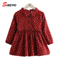 Dress For Kids Girls 2016 New Autumn Fashion Floral Prinitng Baby Girl Dress Long Sleeve Cute Casual Children Clothing 4151Z