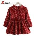 Vestido Para Niños Chicas 2016 Nuevo Otoño Moda Floral Prinitng 4151Z Lindo Niños Ocasional Ropa de Manga Larga del Vestido Del Bebé
