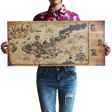 Manualidades Retro pirata velero cartel del mapa del mundo pegatinas de pared pintura para sala de estar o Bar Café decoración antiguo 72*33 Centimeters