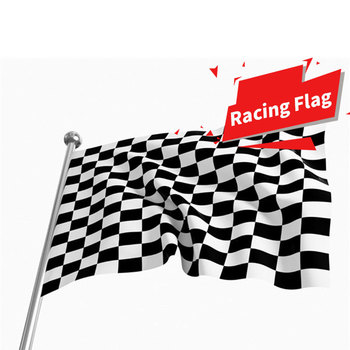 90x150cm Black And White Plaid Racing Signal Flag Car Motorcycle Checkered Flag Racing Flags Banners Home Decorations Drop ship image