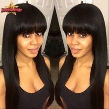 Brazilian Virgin Hair Full Lace Human Hair Wigs For Black Women Full Lace Human Hair Wigs With Bangs Top Glueless Full Lace Wigs