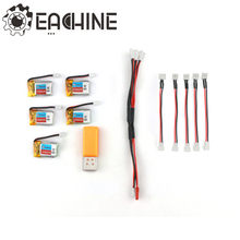5 PCS Eachine E010 3.7 V 150 mAh Batterij USB Lader Set RC Quadcopter Onderdelen(China)