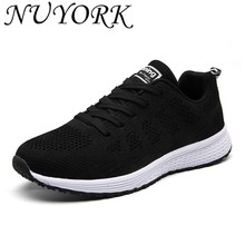 NUYORK New listing of Hot sales Summer Breathable Fly line women running shoes sneakers sports shoes A08