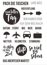 TAG German stamp Transparent Clear Silicone  Stamp Seal  DIY Scrapbooking photo Album Decorative