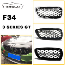New diamond style grill For BMW 3 series GT F34 2013-2018 Racing Grills Front Kidney Grille Three styles