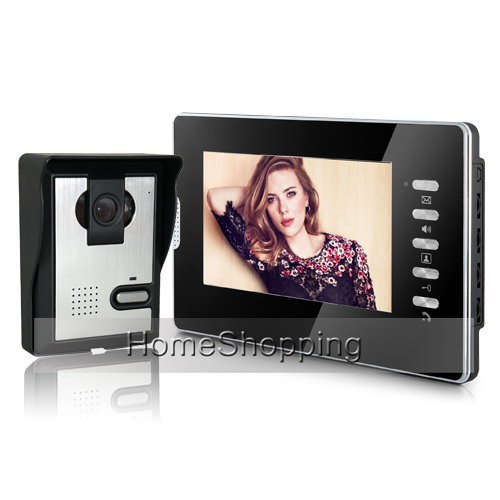 Wholesale Brand New Wired 7 inch Color Video Door Phone intercom System 1 Monitor + Door Bell Camera FREE SHIPPING IN Stock free shipping wired home security 7 inch color video intercom door phone system 2 monitor 1 doorbell camera in stock wholesale