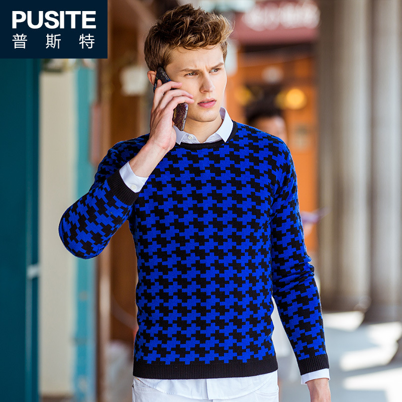 2017 Autumn Size 3XL Knitting Patterns Mens Sweaters Famous Brand Long Sleeve Sweaters Pullover Men Casual