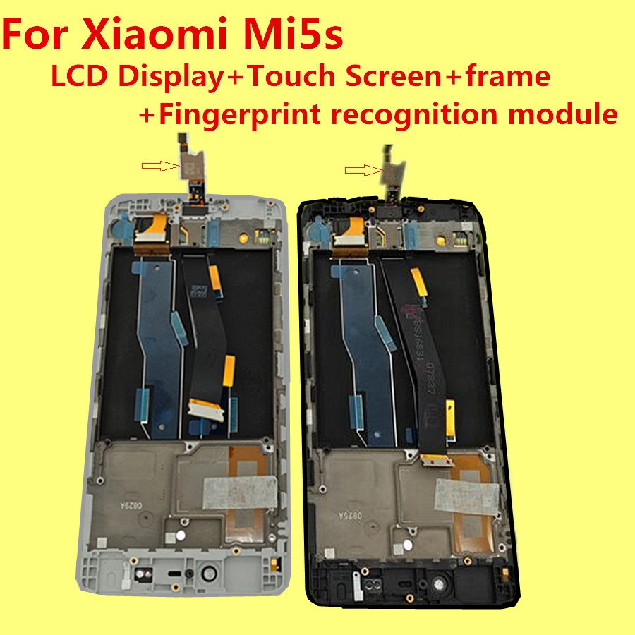 with Fingerprint recognition function For Xiaomi Mi5s MI 5S LCD Display Touch Screen WITH Frame Assembly