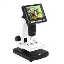 Buy New Professional High Precision Desktop 3.5″ LCD Digital Microscope UM038A 10-300X up to 1200x Magnification 5M Resolution Meter