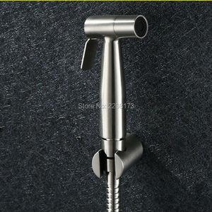 Hot Sale 304 Stainless Steel Hand Toilet Bidet Mini Shower Bidet Spray High Pressure Small Shattaf Sprayer in Nickel Brushed Set