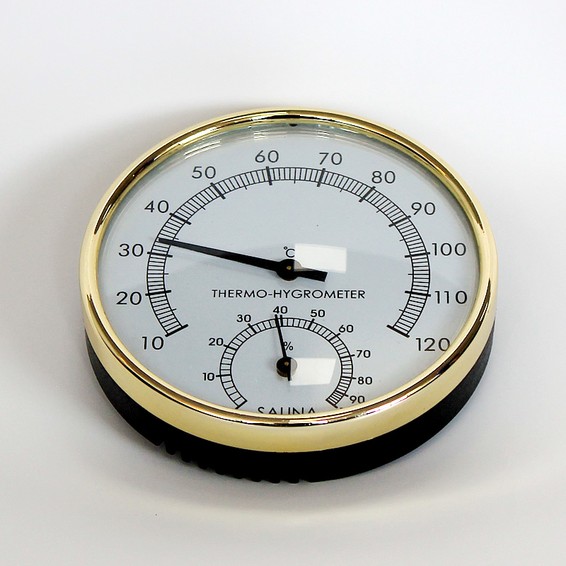 Sauna Accessories Stainless Steel And Plastic Temperature And Humidity Thermometer