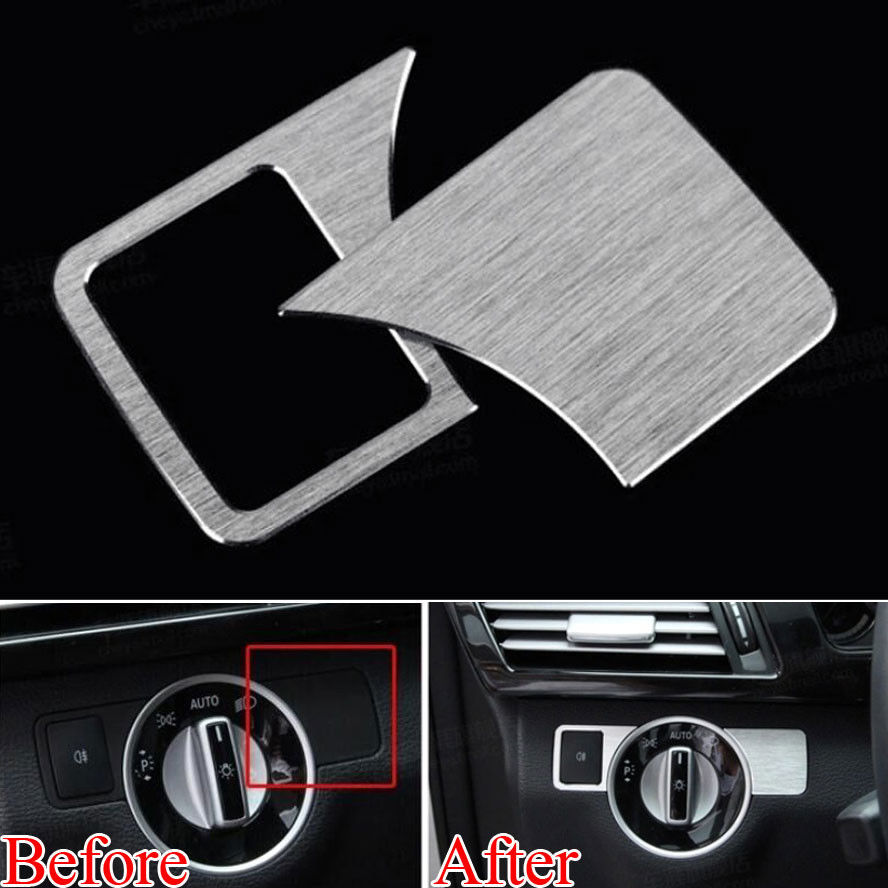 Car-Styling Head Lamp Headlight Adjust Switch Button Cover Trim Car Accessories For Mercedes Benz A B C E ML GL Class W176 car seat cover automobiles accessories for benz mercedes c180 c200 gl x164 ml w164 ml320 w163 w110 w114 w115 w124 t124