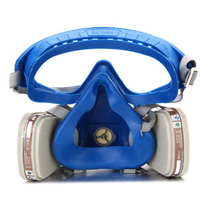Image 3 - Gas Comprehensive Cover Paint Chemical Mask & Goggles Pesticide Dustproof Fire Escape  respirator carbon filter mask