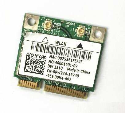 SSEA New For Dell DW1510 PW934 Half Mini PCI-E For Broadcom BCM4322 BCM94322HM8L For Dell 1535 1537 E4200 E6400 Free Shipping