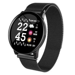 Image 5 - Reloj inteligente W8 con pantalla de latido del corazón, pronóstico del tiempo, reloj inteligente de Fitness, recordatorio, pulsera inteligente bluetooth a prueba de agua pk Q8 Q9