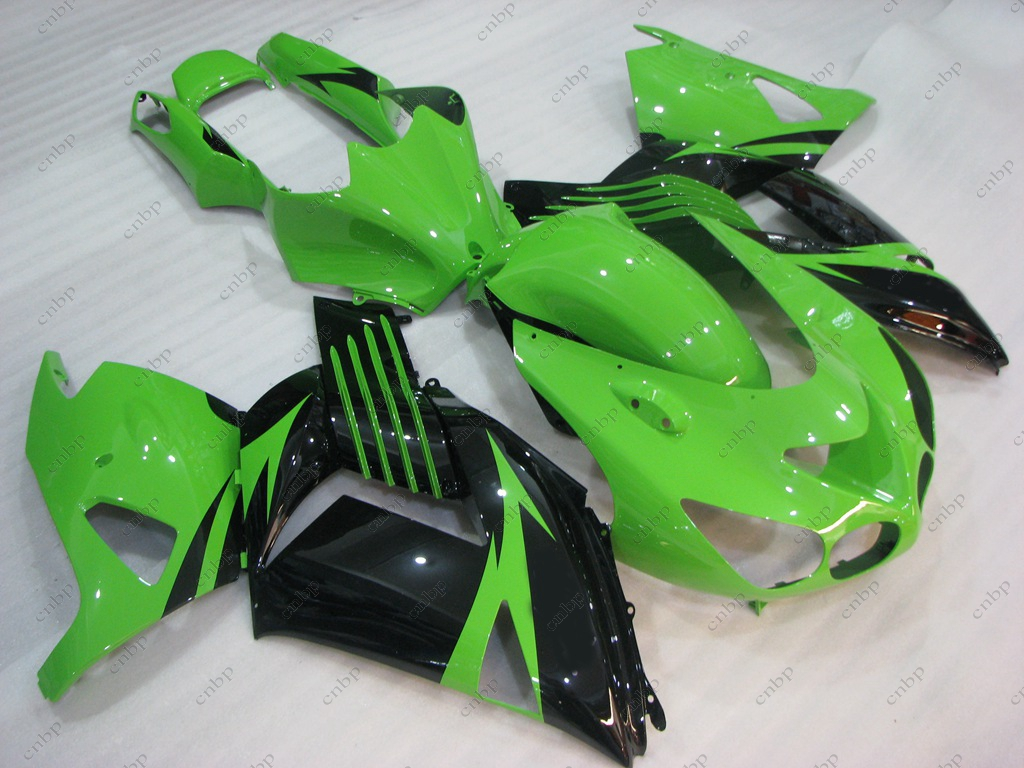 Full Body Kits Zx14 Zx-14r 2009 Fairings ZZR 1400 2008 2006 - 2011 Green Black Fairing Kits for Kawasaki Zx14r 2010