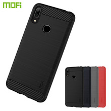 MOFi For Huawei Y7 2019 Case Luxury Carbon Fiber Anti-drop TPU Soft Cover Cases For Huawei Y7 2019 Back Cover mofi for huawei nova 5 pro case luxury carbon fiber anti drop tpu soft cover cases for huawei nova 5 pro back cover