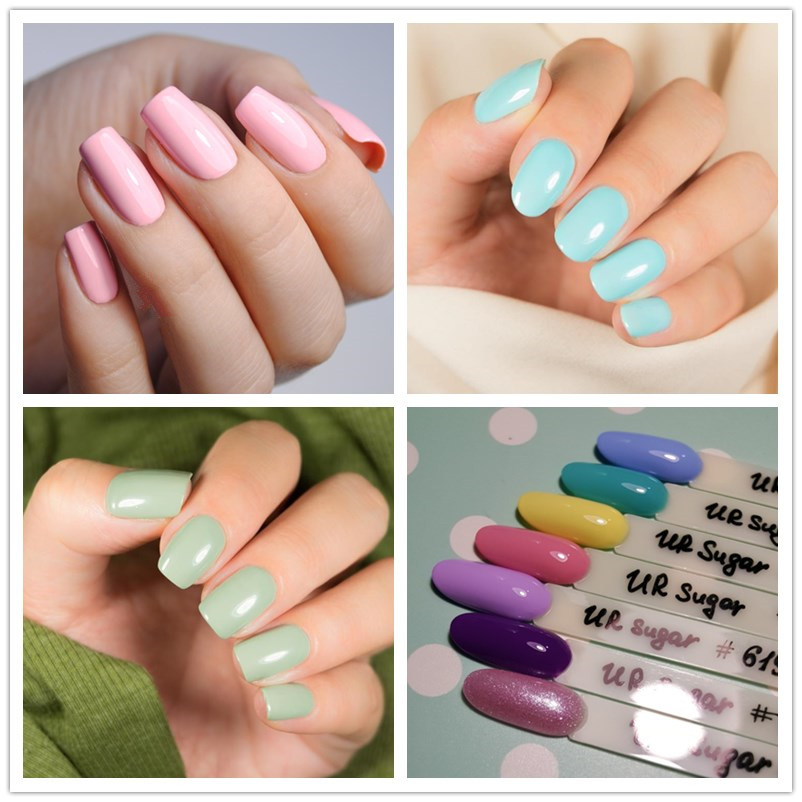 UR SUKKER 7,5 ml Soak Off UV Gel Polsk Gul Serie Pure Color Nail Art - Negle kunst - Foto 4