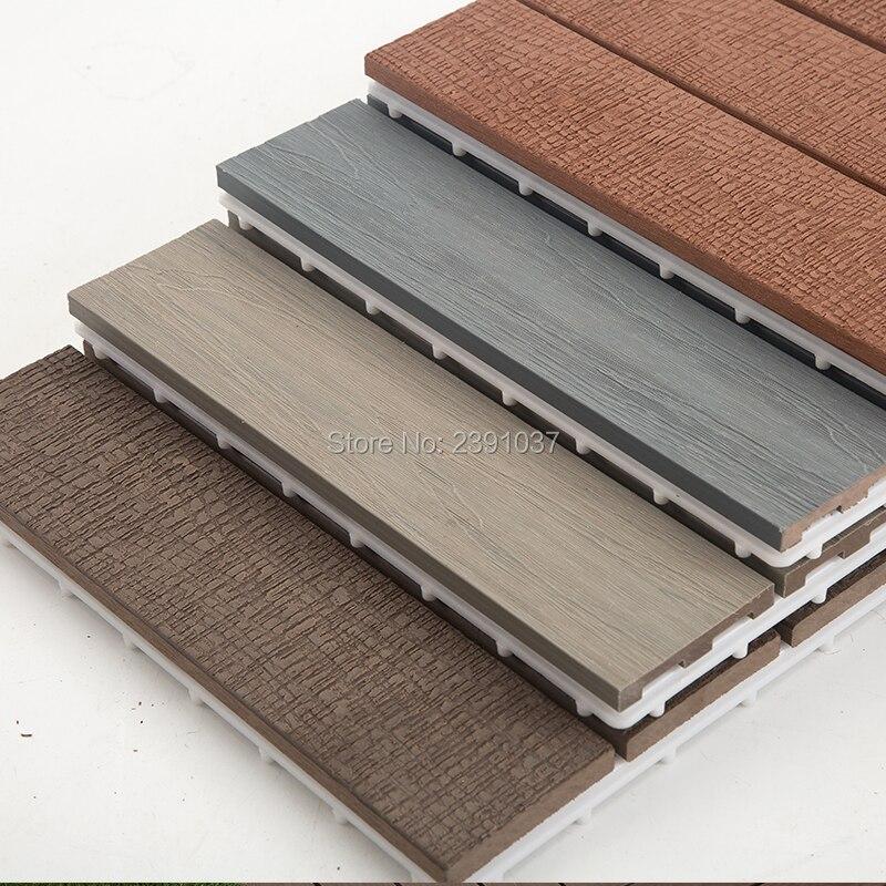 Japanese-style Lavender Blue Wood Grain balcony floor wood plastic composite outdoor floor tiles waterproof Courtyard floor