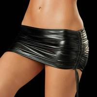 Sexy LaTeX Skirt Women PVC Pole Dancing Club Wear Short Skirts 10 Colors Patent Leather Micro