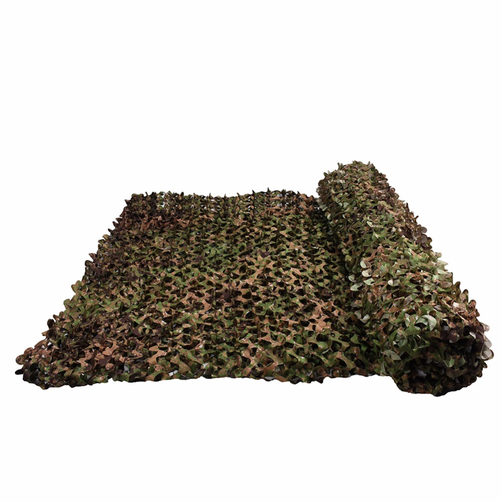 LOOGU 1.5m*4m Green Camo Sun Tent Shelter Tarp Awning Outdoor Shade Hunting Camping Jungle Party Decorations Gazebo for Garden