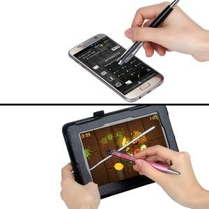 Image 4 - 1000 шт./лот искусственная металлическая милая Шариковая ручка со стразами и кристаллами кавайная Шариковая ручка для сенсорного экрана для Ipad Iphone черная Золотая