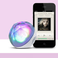 LED Crystal Ball Light Bluetooth Speaker Night Light USB MP3 Player Remote Control Hands free Calling AUX Mode TF Card LED Lamp