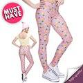 Новый 3D печать Женщины Поножи Ананас Розовый Трикотажные Jeggings Сексуальная Легинсы Причинно Tayt Фитнес Леггинсы Calzas Mujer Legins Девушки