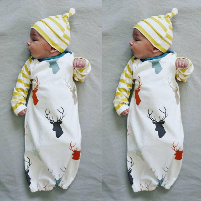 5e8ab28a4 Newborn Infant Baby Girls Boy Sleeping Pajama Robes Casual Sleepwear ...