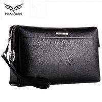 Famous Brand Men Wallets Double Zipper Genuine Leather Clutch Bag Natural Cowhide Purse Large Capacity Wallet