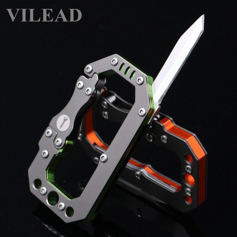 VILEAD EDC Knife Carabiner Metal 45 gram Mechanical style Outdoor Tool Survival Gear