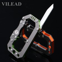 VILEAD EDC Knife Carabiner Metal 45 gram Mechanical style Outdoor Tool Survival Gear