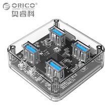 ORICO Transparente USB 3.0 HUB 4 Portas de Alta Velocidade USB Divisor com Interface De Alimentação De Carga para Windows Mac Linux PC Portátil USB