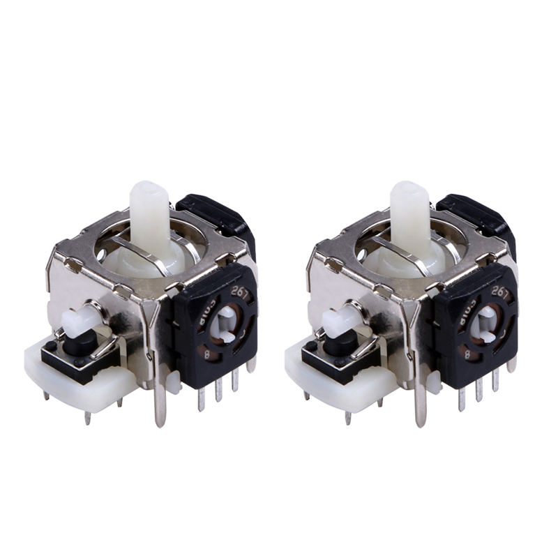 2pcs/pack New-Replacement 3D Analog Joystick Module for Xbox 360 Wireless Controller Green