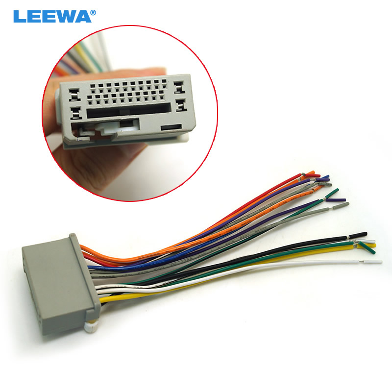 Leewa 10pcs Car Audio Stereo Wiring Harness For Honda Odyssey  Pilot  Ridgeline Pluging Into Oem