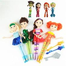 4pcs/set Kawaii Fairy Fantasy Patrol Doll Action Figures Change Clothes Dolls Toys Model Lover Christmas Gift For Girls Kids