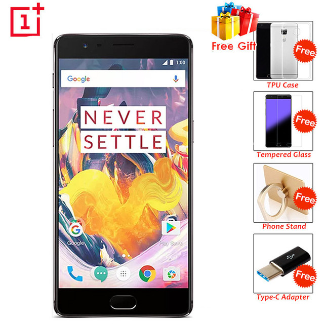 "Оригинал oneplus 3 t a3010 4 г мобильный телефон android 6.0 quad core Snapdragon 821 6 Г RAM 128 Г ROM 5.5 ""FHD 16.0MP 4 Г LTE Телефон"