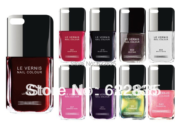 Free Shipping LE VERNIS Nail With LOGO hard Case for iPhone 5 5S