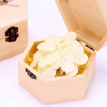 Handmade Flower Home Hexagon Christmas Toilet Soap Wooden Valentine's Day Hand Washing With Light Decoration Gift Box Festival(China)