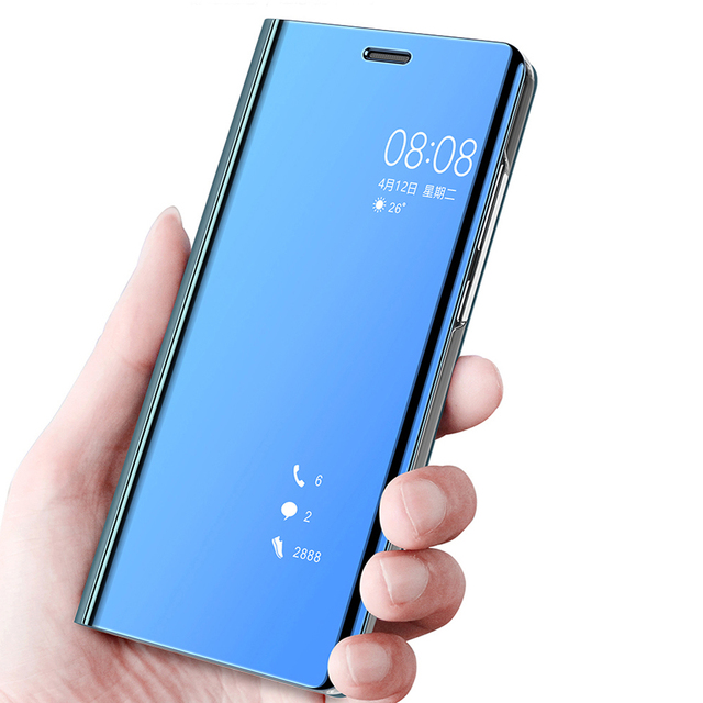088996a9883 Mirror Clear View Flip Cover For Huawei Mate 10 lite Case For Huawei P20  Pro P10