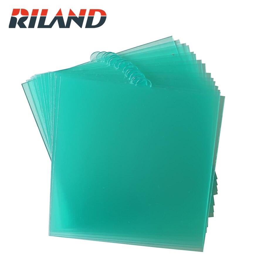 RILAND X9000 124*129MM filtr spawalniczy akcesoria do masek wewnątrz PC arkusz ochronny dla Auto ciemnienie przyłbica spawalnicza kask ochraniacze