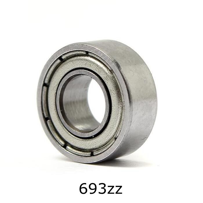 10pcs 3*8*4mm Deep Groove Ball Bearing 693ZZ Bearing Steel Sealed Double Shielded Dustproof for Instrument Electrical 6000 2rs sealed deep groove ball bearing 10mm inner dia black silver tone