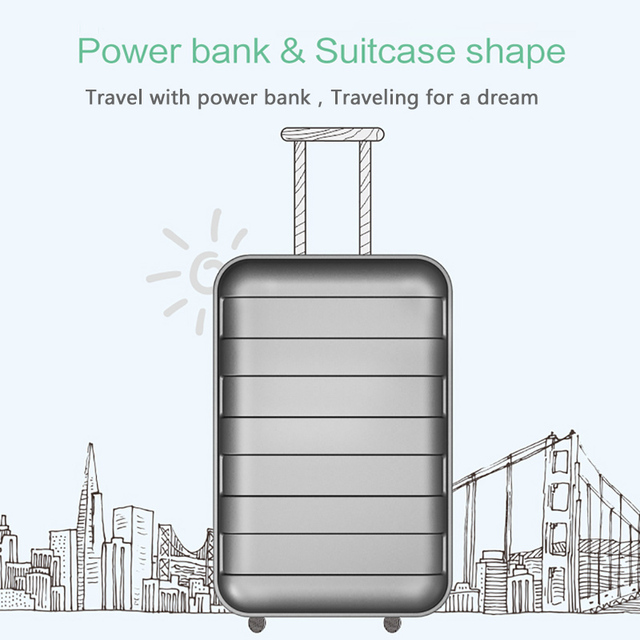 Power Bank 20000mAh USAMS LCD Portable PowerBank External Battery Dual USB Charger For Xiaomi iPhone 7 6 6S 5 Mobile Phones Tab