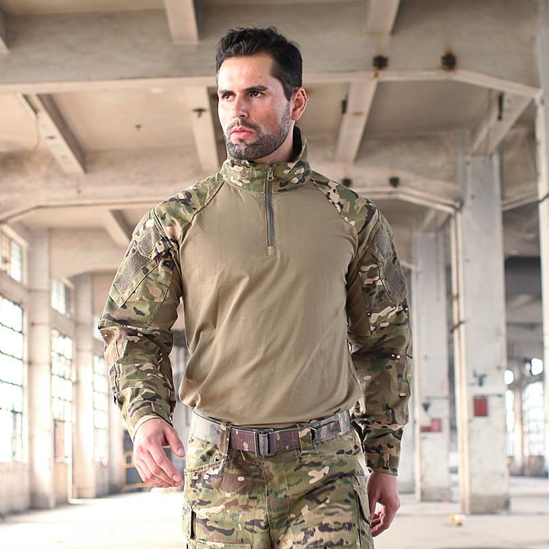 Trueguard 2016 Tactical Response Uniforms 1/4 Zip Combat shirt Multicam Tropic 65/35 Poly Cotton Ripstop Combat Shirt MTP