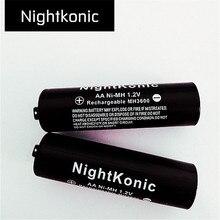 10 PCS/LOT aa battery  NightKonic 1.2V NI-MH AA Rechargeable Battery BLACK
