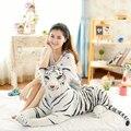 Моделирование тигр белый гигантские плюшевые тигр белый тигр плюшевые куклы мальчика дети дети Рождественские подарки мягкие плюшевые игрушки