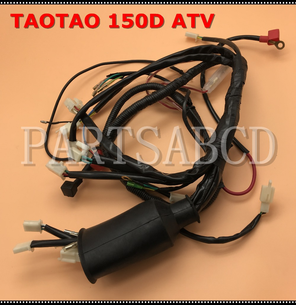 atv 150cc taotao 150d atv quad wires harness assy