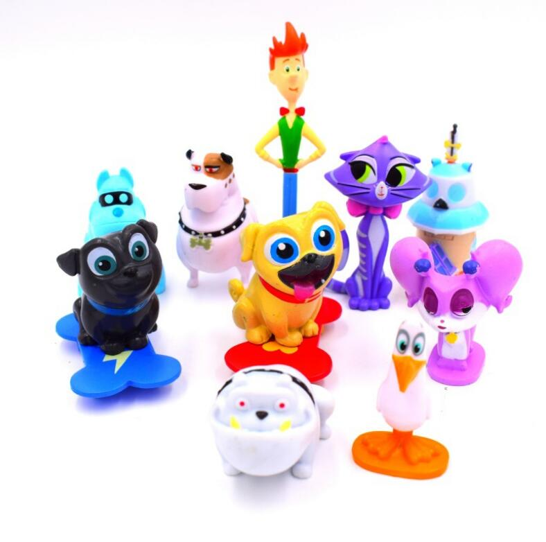 12pcs/set Puppy Dog Pals Doll Canina Anime Toy Action Figures Toys Christmas Gifts For Children hot sale kids personalized christmas gifts moana adventure mo ahna moana princess doll gift anime toy figures toys for children