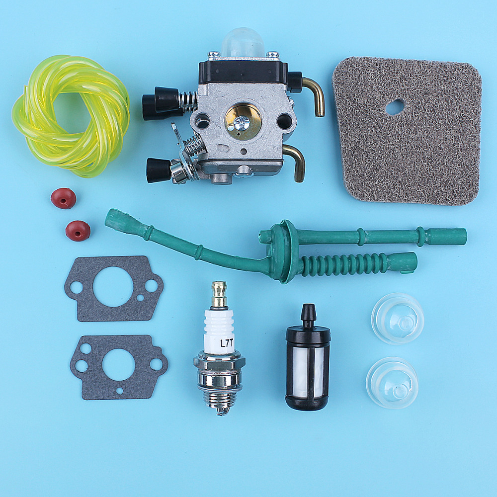 <font><b>Carburetor</b></font> Carby Fuel Air Filter Line Kit Fit <font><b>Stihl</b></font> <font><b>FS38</b></font> <font><b>FS45</b></font> FS46 FS55 KM55 FS85 Trimmer Cutter image