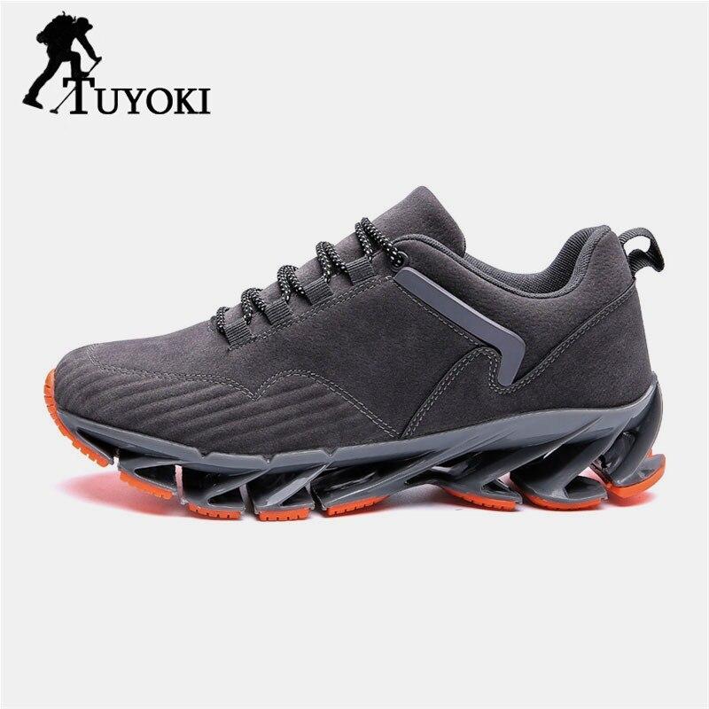 Tuyoki mode extérieure bandoulière maille légère respirant baskets chaussures de randonnée hommes chaussures décontractées quotidiennes chaussures taille 39-45